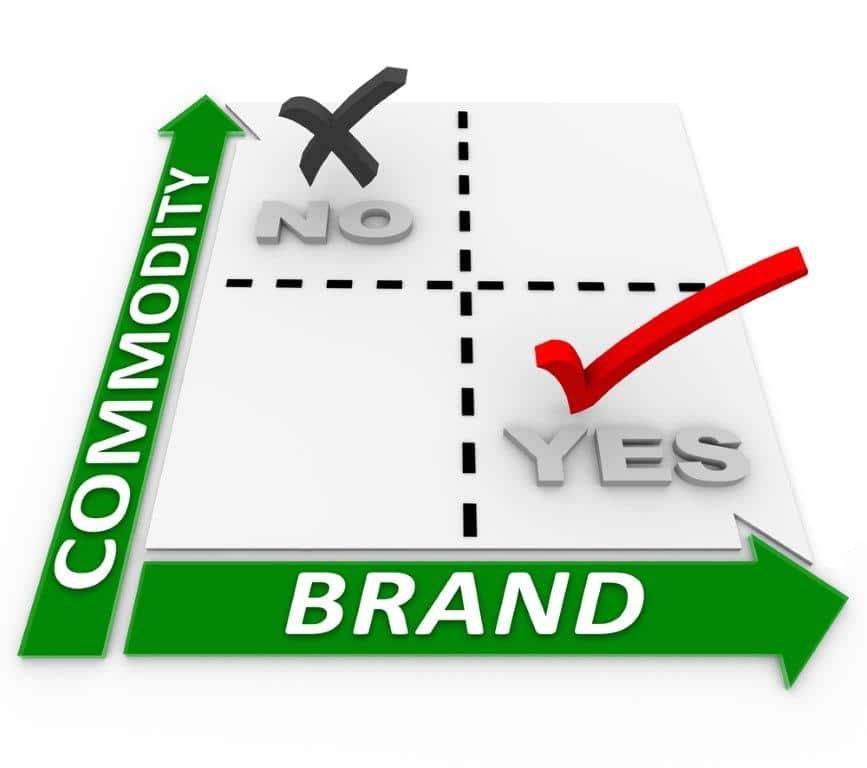 build a brand not a commodity