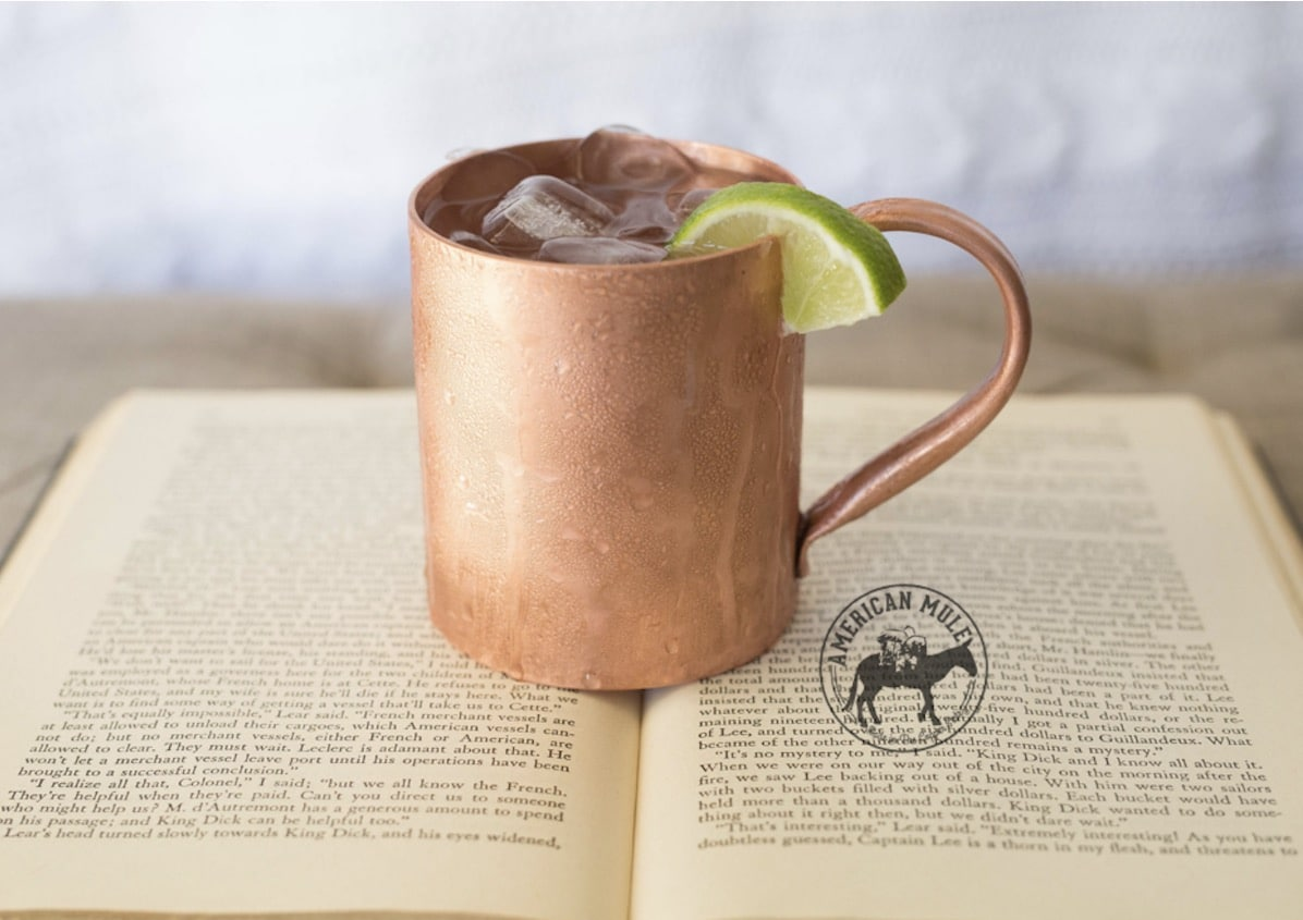 Quality and The American Mule copper mug